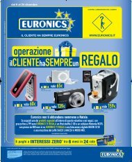 E paghi a INTERESSI ZERO* tra 6 mesi in 24 rate - Euronics Nova
