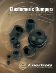 View the Elastomeric Bumpers Catalog - Enertrols