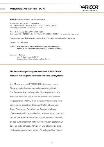 Ein Ausstellungsdesigner berichtet.pdf - Varicor
