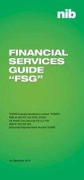 "FINANCIAL SERVICES GUIDE ""FSG"" - nib"