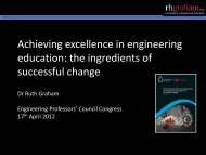 Successful and sustainable change in engineering education