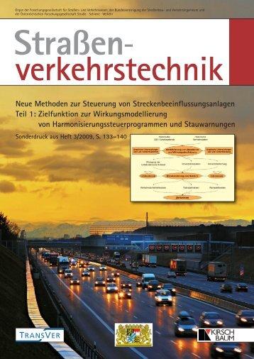 Neue Methoden zur Steuerung von Streckenbeeinflussungsanlagen ...