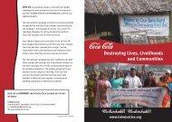 Factsheet on Coca-Cola - India Resource Center