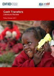 Cash Transfers Literature Review - DfID