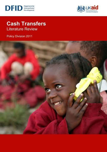 Cash Transfers Literature Review - DfID