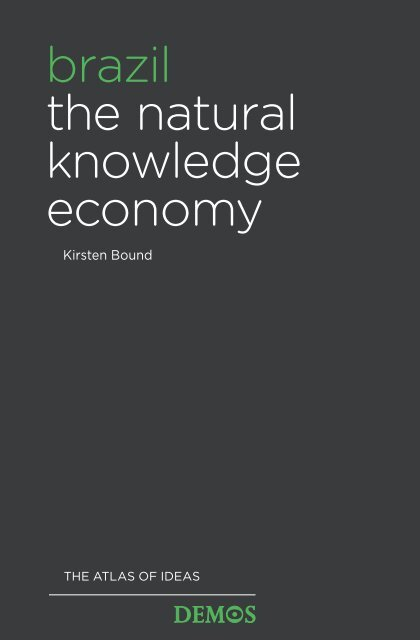 brazil the natural knowledge economy - CGEE