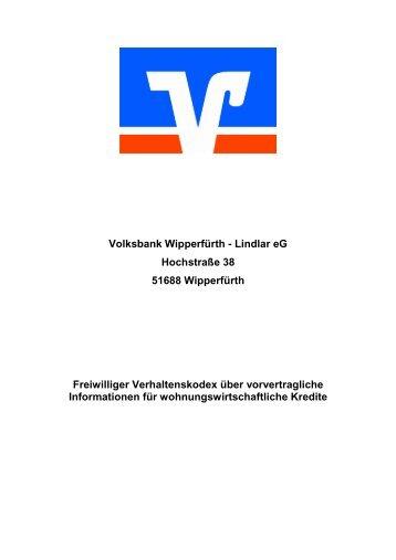 Kodex - Volksbank Wipperfürth-Lindlar eG
