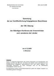 Beschluss der Innenministerkonferenz - Pro Asyl