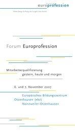 RZ Forum Europr. Einladung '07 - TOP Trainings-, Organisations
