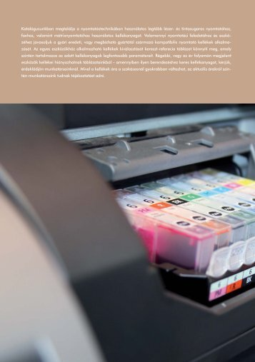 Katalógusunkban megtalálja a nyomtatástechnikában használatos ...