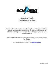 Durastone Installation Inst.pdf - Entre Prises Climbing Walls
