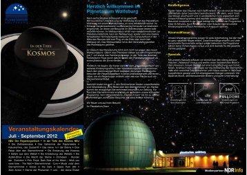 Veranstaltungskalender - Planetarium Wolfsburg