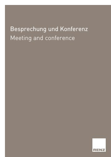 Besprechung und Konferenz Meeting and conference