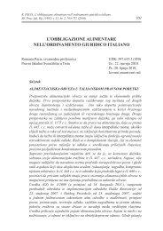 l'obbligazione alimentare nell'ordinamento giuridico italiano
