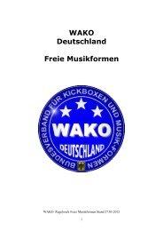 Regelwerk Freie Musikformen 2012 - WAKO Deutschland