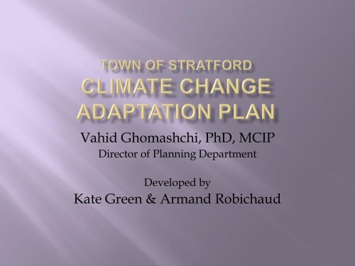 Town of Stratford Climate Change Adaptation Plan - Atlantic Climate ...