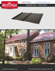Standing Seam - Install Guide - Best Buy Metals