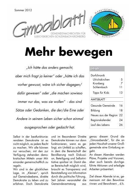 Singles aus Ulrichskirchen-Schleinbach kennenlernen