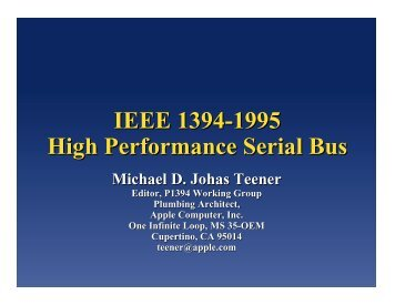 IEEE 1394-1995 High Performance Serial Bus