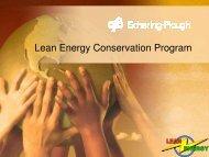 Lean Energy Conservation Program