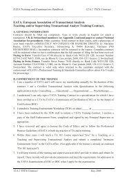 EATA: European Association of Transactional Analysis Teaching ...
