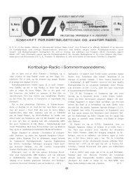 Kortbølge-Radio i Sommermaanederne, - Søg i OZ
