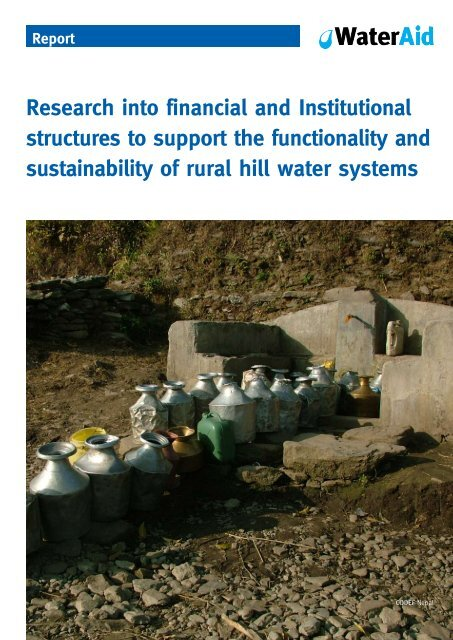 rural hill water systems - WaterAid