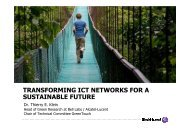 Transforming ICT Networks for a Sustainable Future - GreenTouch