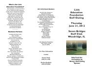 Lisle Education Foundation Golf Outing Thursday June ... - District 202