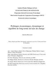 I - L'efficience sur le marché des changes - Sciences Po Spire