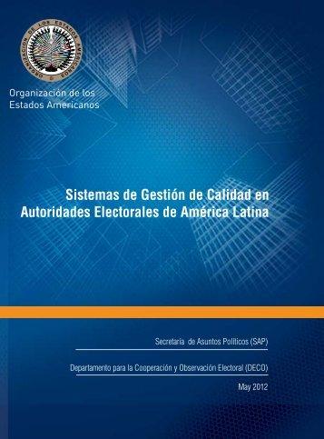 Sistemas de Gestión de Calidad en Autoridades Electorales de ...