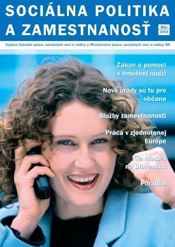 Máj 2004 - Ústredie práce, sociálnych vecí a rodiny