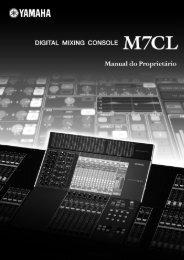 Manual M7CL - Yamaha