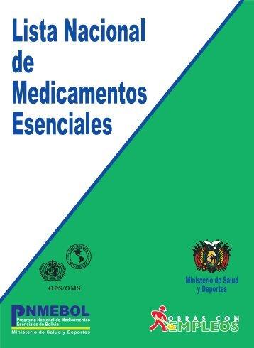 Lista Nacional de Medicamentos Esenciales