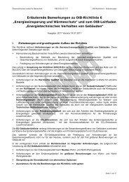 """Erläuternde Bemerkungen zu OIB-Richtlinie 6 """"Energieeinsparung ..."""