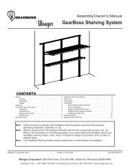 GearBoss Shelving System - Wenger Corporation