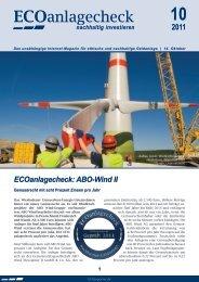 ECOanlagecheck: ABO-Wind II - ECOreporter.de