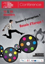 Conférence - Agence Europe-Education-Formation France