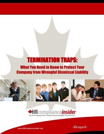 TERMINATION TRAPS: - HRInsider