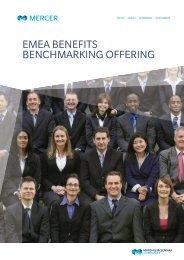 EMEA BENEFITS BENCHMARKING OFFERING - iMercer.com