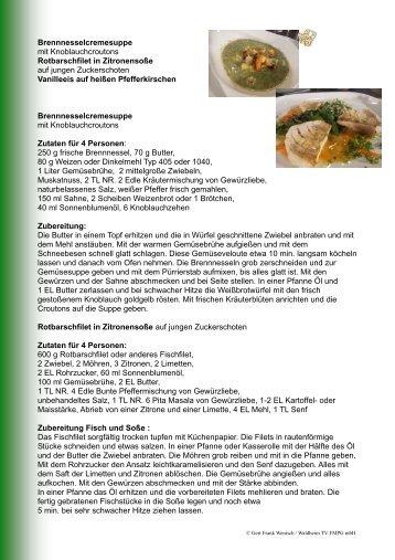 Brennnesselcremesuppe mit Croutons und ... - Waldheim TV