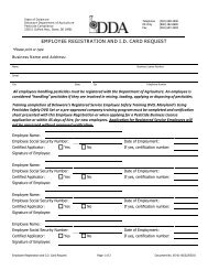 employee registration and id card request - Delaware Department of ...