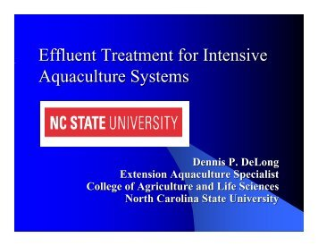 Effluent Treatment for Intensive Aquaculture Systems