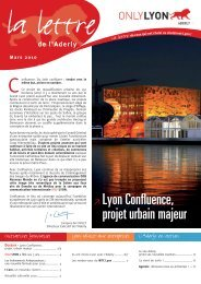 ≥ Lyon Confluence, projet urbain majeur - Aderly