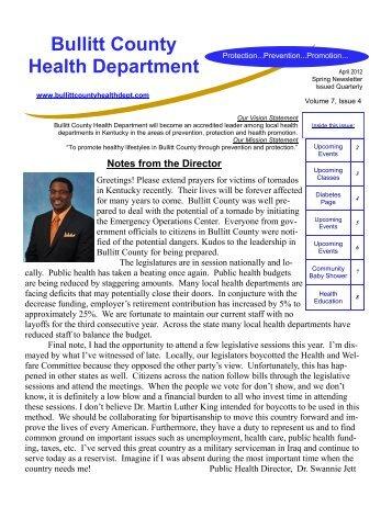 Spring Newsletter 2012 - Volume 7, Issue 4 - Bullitt County Health ...