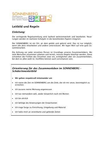 10-06-30 Leitbild und Regeln - SONNENBERG