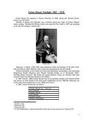Cohen Street, Fairlight: 1887 – 1919 - Manly Council