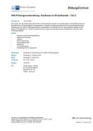 IHK-Prüfungsvorbereitung: Kaufleute im Einzelhandel - Teil 2