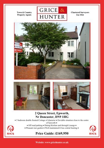 Price Guide: £169950 2 Queen Street, Epworth, Nr ... - Grice & Hunter