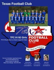 TFC91-92Girls resume-Aug2009noA - Scouting Solutions Trainer